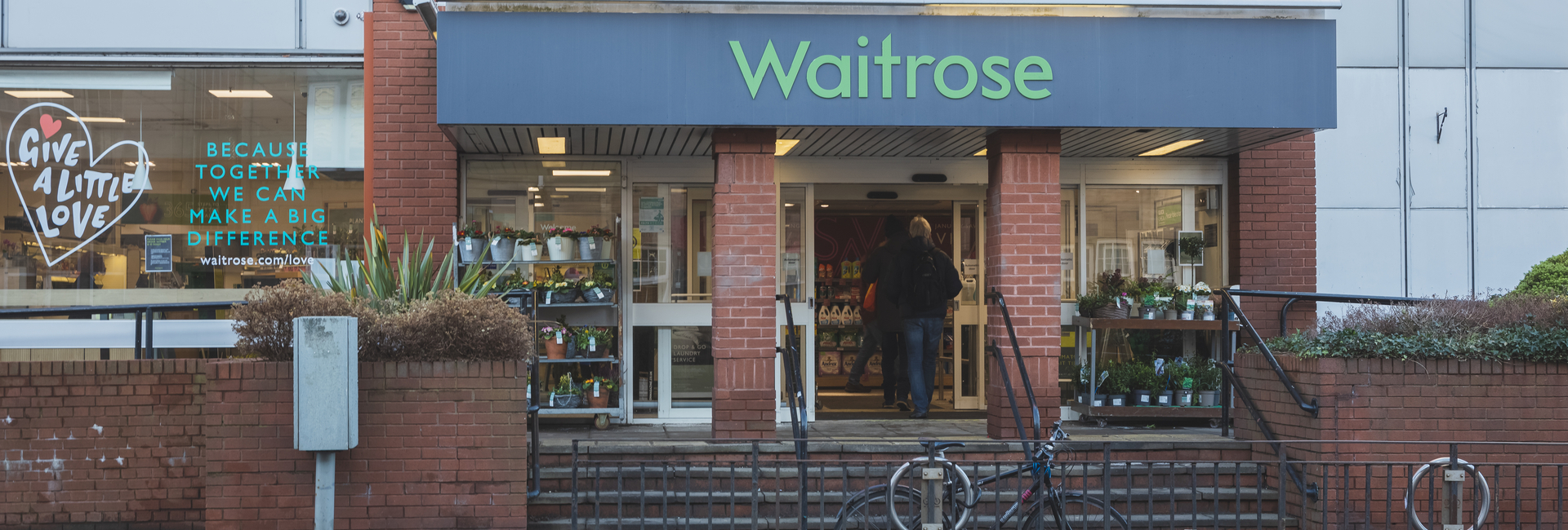 the front of the Waitrose store in Edinburgh